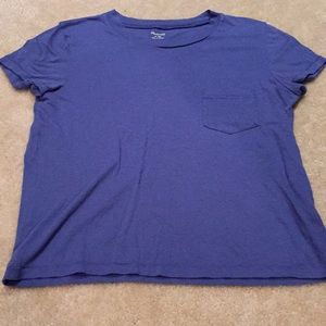 Madewell capsleeved T-shirt denim/periwinkle